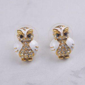 Kate Spade Enamel Zircon Owl Earring